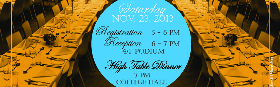 Second High Table Dinner of the Residential Colleges (Shun Hing College) 2013-2014